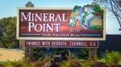 OCT 9, 2015 - Mineral Point Est 1827 border sign/photonews247.com