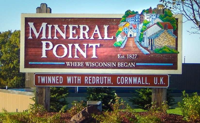 OCT 9, 2015 - Mineral Point Est 1827 border sign/photonews247.com