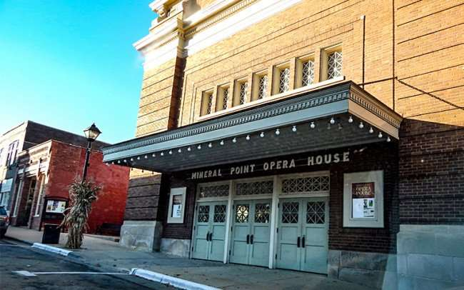 OCT 8, 2015 - Mineral Point Opera House, City Hall and Library all housed in one three-story building that was built in 1914 on High Street/photonews247.com