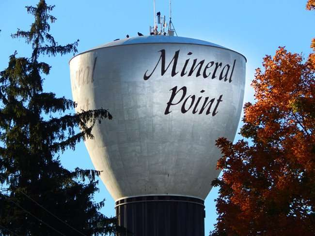 OCT 9, 2015 - Mineral Point water tower/photonews247.com
