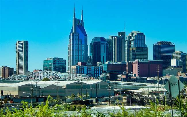 OCT 6, 2015 - Nashville Tn Skyline with Batman (AT&T) building, tallest over 600 ft/photonews247.com