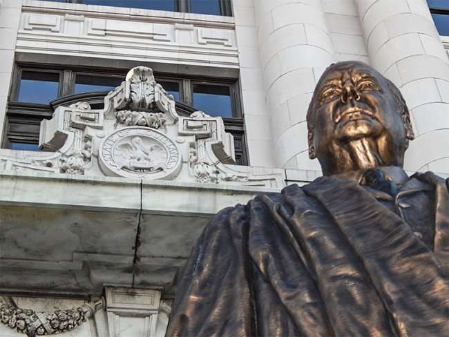 SEPT 14, 2015 - Statue of Edward Douglas White Chief Justice of Louisiana on Royal Street in New Orleans, LA