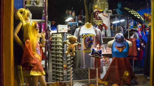 Oct 7, 2017 - Superman Gift Shop window shopping on Market Street, Downtown Metropolis, IL/photonews247.com