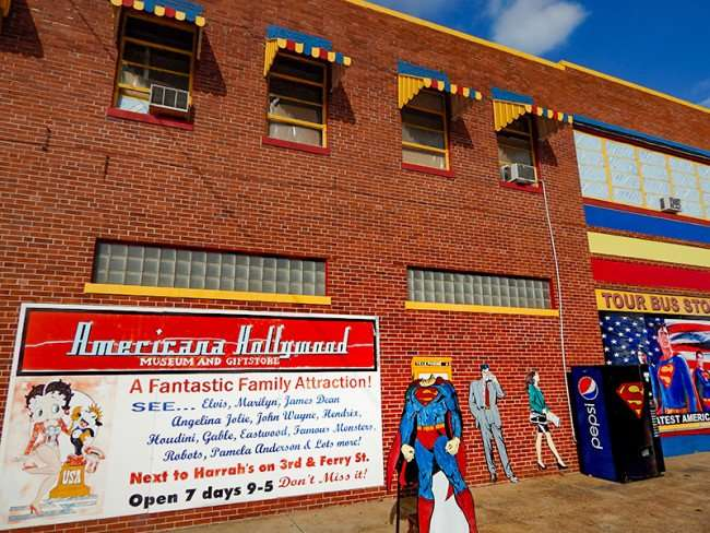 OCT 6, 2015 - Superman Museum and Gift Shop building with Superman emblem on Pepsi machine, Metropolis, Illinois/photonews247.com