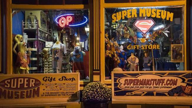 Oct 8, 2017 - Superman Museum window display on Market Street, Metropolis, IL/photonews247.com