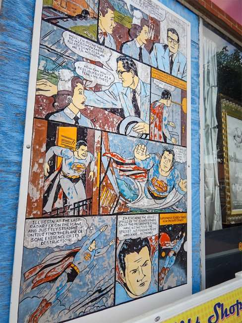 OCT 6, 2015 - Superman comic strip on Super Museum, Metropolis, Illinois/photonews247.com