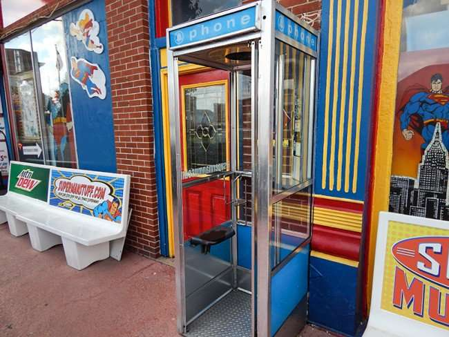 OCT, 6, 2015 - Superman phone booth at Super Museum, Metropolis, Illinois/photonews247.com
