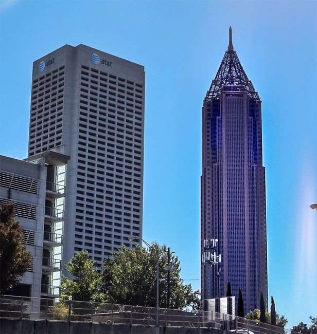 OCT 14, 2015 - The Bank of America Plaza building (R) tallest building in Atlanta Georgia/photonews247.com
