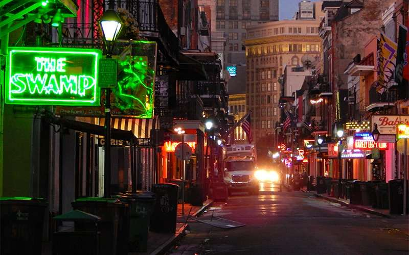 SEPT 14, 2015 - The Swamp Bar with balcony over looking Bourbon Street, New Orleans/photonews247.com