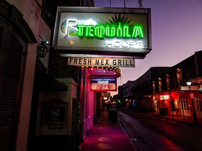 SEPT 14, 2015 - The Tequila House serving Mexican food, Bourbon St, New Orleans, LA/photonews247.com