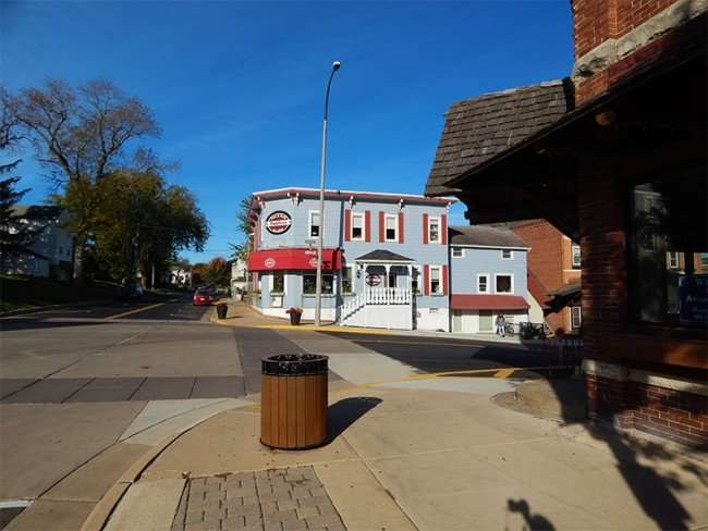 OCT 10, 2015 - Tofflers Pub and Grill restaurant local hang out in New Glarus, Wisconsin/photonews247.com