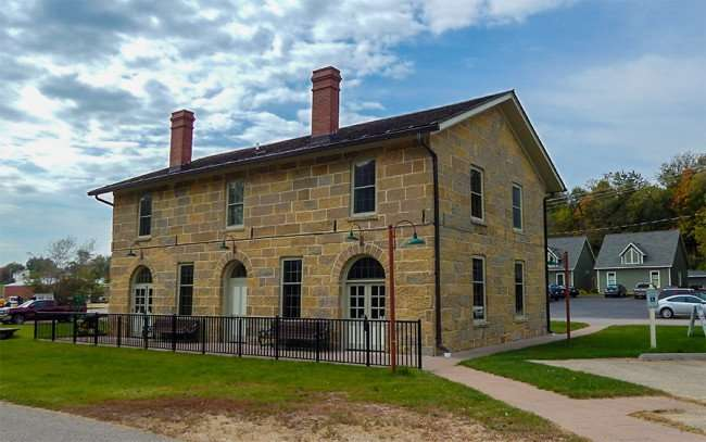 OCT 8, 2015 - Train Museum in historic building in Mineral Point, Illinois/photonews247.com