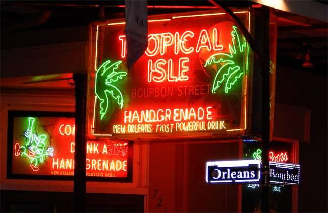 SEPT 14, 2015 - Tropical Isle on Bourbon Street home of the Hand Grenade, New Orleans' Most Powerful Drink/photonews247.com