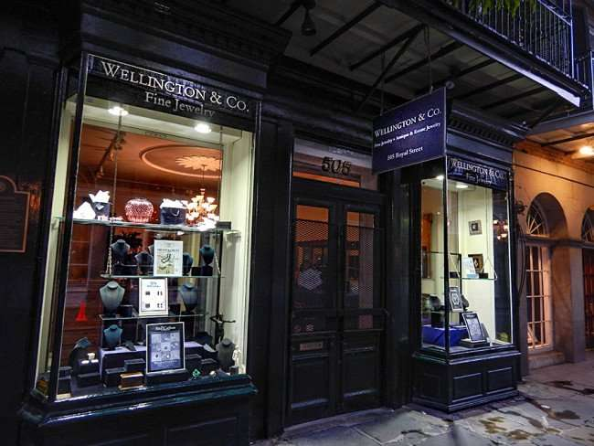 SEPT 14, 2015 - Wellington and Company Fine Jewelry store front on Royal Street, New Orleans, LA/photonews247.com
