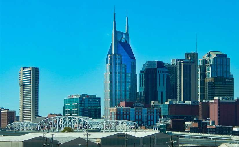 OCT 6, 2015 - What is the building with two long Antennas that look like horns in Nashville Tn/photonews247.com