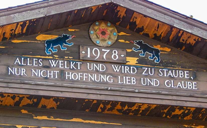 OCT 10, 2015 - Words of Wisdom on local newspaper building (Post Messenger Recorder) New Glarus, WI/photonews247.com