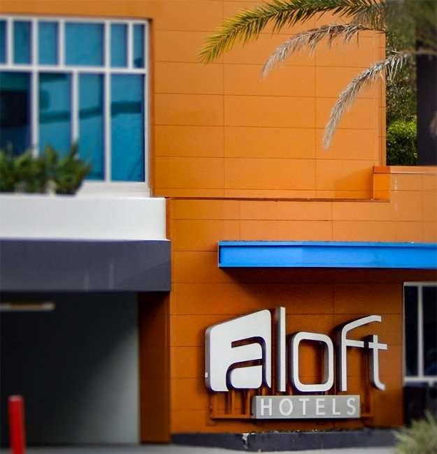 NOV 8, 2015 - Aloft Hotel signage in Tampa, FL/photonews247.com