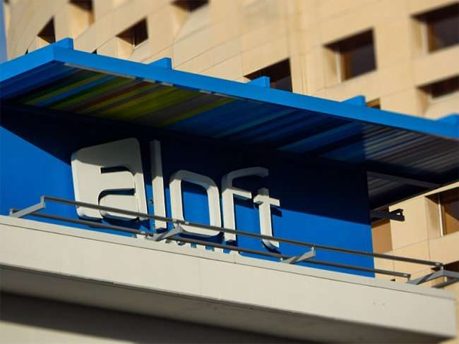 NOV 8, 2015 - Aloft Hotel with Rivergate Towers in background in downtown Tampa, FL/photonews247.com