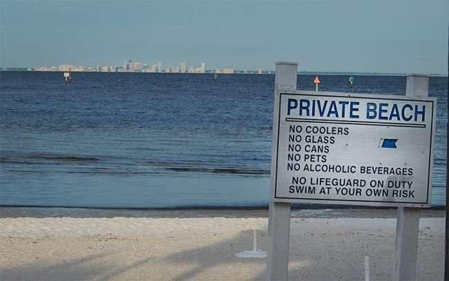 NOV 14, 2015 - Bahia Private Beach, no lifeguard, no pets, no alcohol, Little Harbor Resort Ruskin, FL/photonews247.com