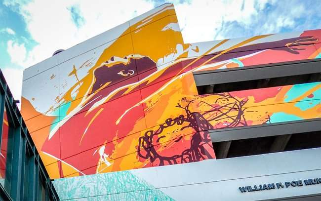 NOV 8, 2015 - Bask & Tes One paint commissioned art work on garage for City Of Tampa, FL/photonews247.com