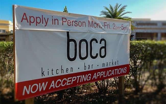 NOV 10, 2015 - Boca Brandon banner Apply in Person Mon - Fri, 2 to 5pm, Riverview, FL/photonews247.com
