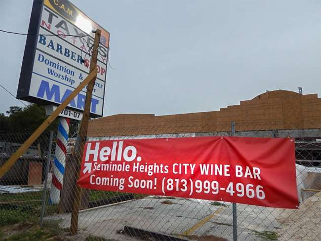 NOV 15, 2015 - City Wine Bar coming to Seminole Heights, Tampa, FL/photonews247.com