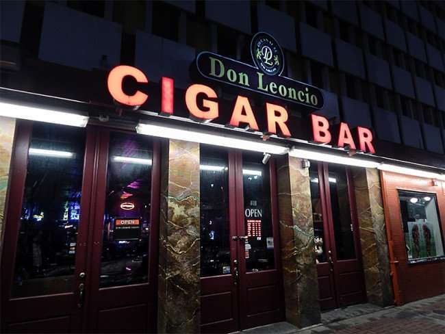 NOV 19, 2015 - Don Leoncio Cigar Bar front entrance on Canal Street, New Orleans, LA/photonews247.com