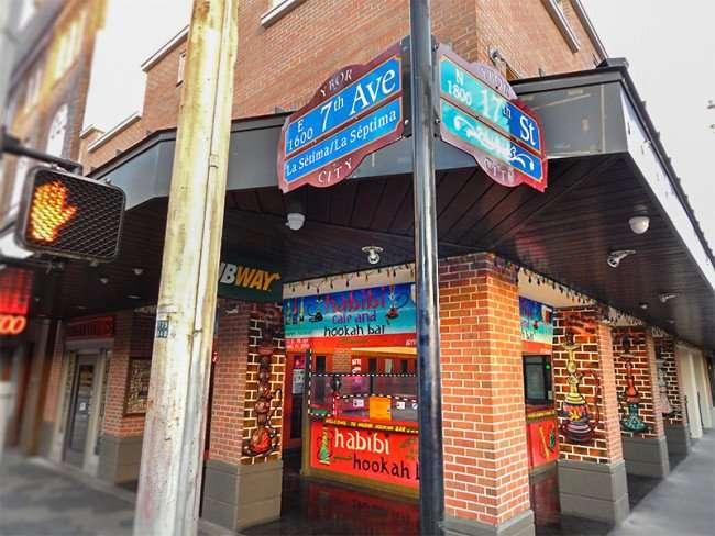NOV 8, 2015 - Habibi Hookah Open Air Bar for best ventilation on 7th Ave and 17th Street, Ybor City Tampa, FL/photonews247.com