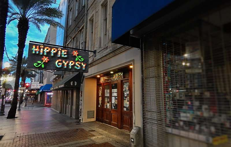 NOV 19, 2015 - Hippie Gypsy tobacco shop and Bohemian clothing on Canal Street, New Orleans, LA/photonews247.com