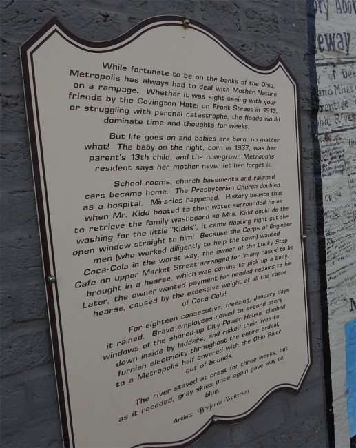OCT 6, 2015 - Historic plaque on building on 7th and Market in Metropolis, IL/photonews247.com