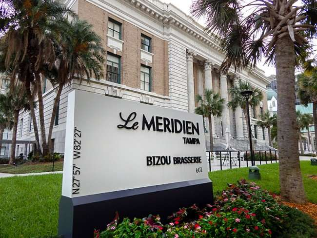 NOV 15, 2015 - Le Meridien Tampa Bizou Brasserie in old federal courthouse building/photonews247.com