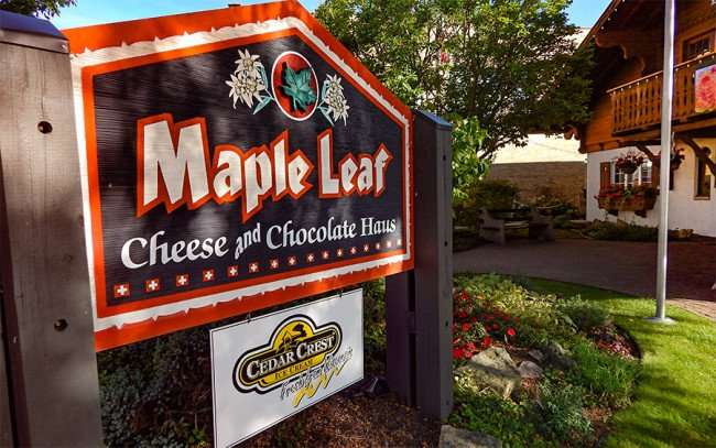OCT 10, 2015 - Maple Leaf Cheese and Chocolate Haus for homemade treats, New Glarus, WI/photonews247.com