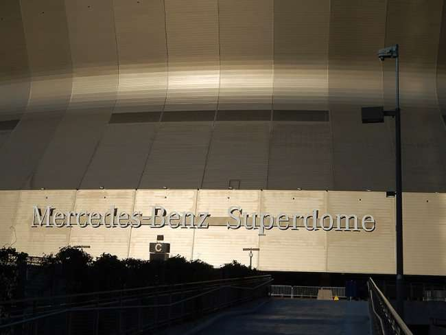 NOV 19, 2015 - Mercedes-Benz Superdome ramp leading to Plaza Level Entrance Gate C in New Orleans, LA/photonews247.com