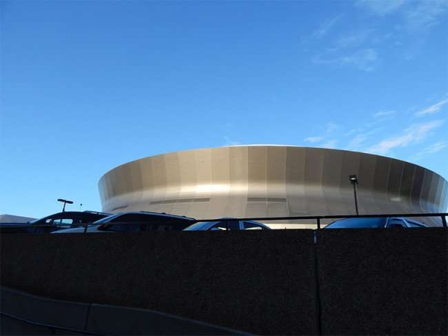 NOV 19, 2015 - Mercedes-Benz Superdome ramp leading to parking lot in New Orleans, LA/photonews247.com