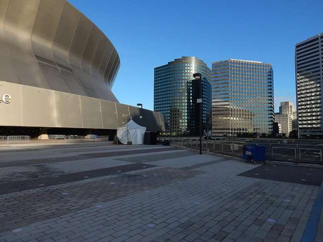 NOV 19, 2015 - Mercedes-Benz Superdome with Freeport-McMoRan building in background, New Orleans, LA/photonews247.com