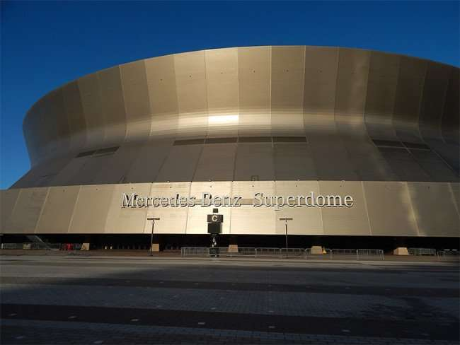 NOV 19, 2015 - Mercedes-Benz Superdome with name showing in New Orleans, LA/photonews247.com