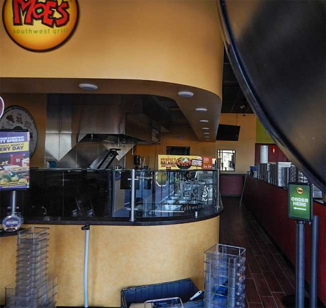 NOV 7, 2015 - Moe's Southwest Grill construction almost compete and ready to open in Brandon-Valrico, FL