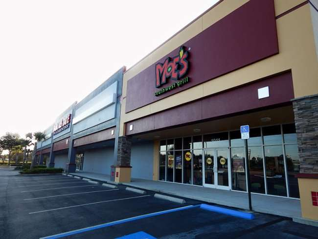 NOV 7, 2015 - Moe's Southwest Grill next to Famous Tate Appliance in Brandon, FL/photonews247.com