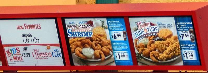 NOV 2, 2015 - Popeyes Riverview, FL - Try the New Spicy Garlic Butterfly Shrimp and Cajun Surf Turf Shrimp Chicken located on Big Bend, Riverview, FL/photonews247.com