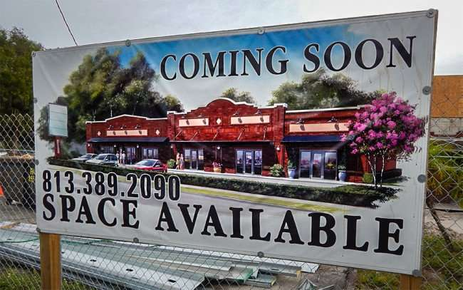 NOV 15, 2015 - Revolution Ice Cream Co moving into new strip mall on Florida Ave in Seminole Heights, Tampa, FL/phtotonews247.com