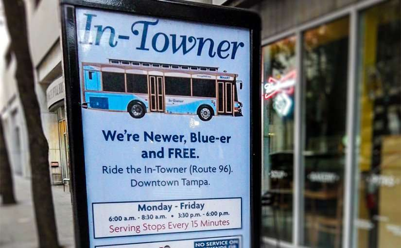 NOV 15, 2015 - Ride In-Towner Route 96 free Mon-Fri in the morning and afternoon, downtown Tampa FL/photonews247.com