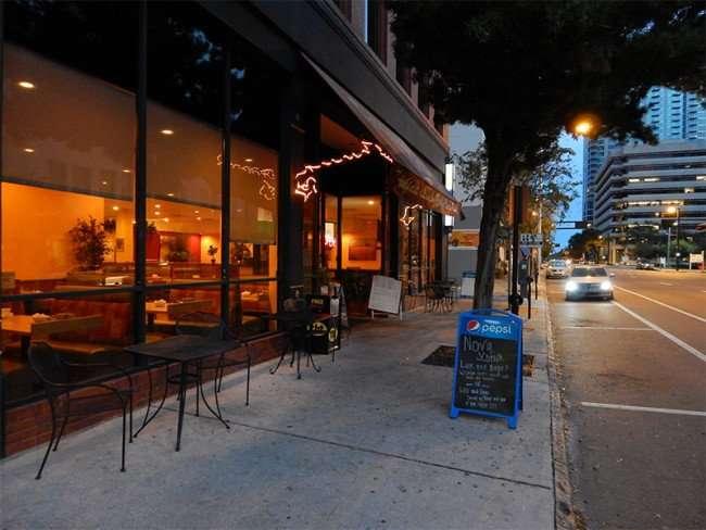 NOV 15, 2015 - Samaria Cafe Restaurant with tables on sidewalk along Tampa Street/photonews247.com