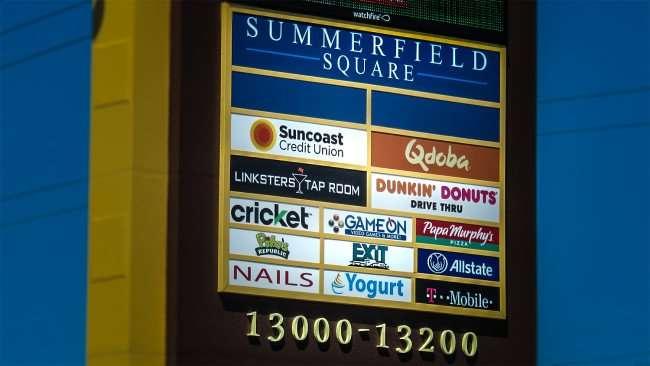 April 4, 2016 - Sign for Summerfield Square, US-301 S. Riverview FL/photonews247.com