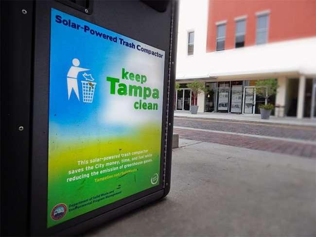 NOV 15, 2015 - Solar-Powered Trash Compactors with Wifi Tampa, FL/photonews247.com