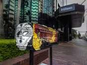 NOV 15, 2015 - Streetcar Sculpture Challenge by artist Samantha Churchill sponsored by Hilton Downtown Tampa/photonews247.com