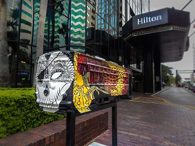 NOV 15, 2015 - Streetcar Sculpture Challenge by artist Samantha Churchill sponsored by Hilton Downtown Tampa/photonews247.com