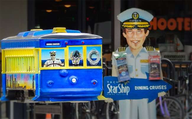 NOV 15, 2015 - Streetcar model sculpture sponsored by Yacht StarShip Dining Cruises, Tampa, FL/photonews247.com
