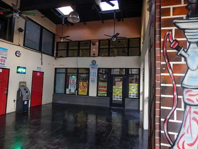 NOV 8, 2015 - Subway and Habibi Hookah Bar share same open-air space on 7th Ave, Ybor City, Tampa, FL/photosnews247.com