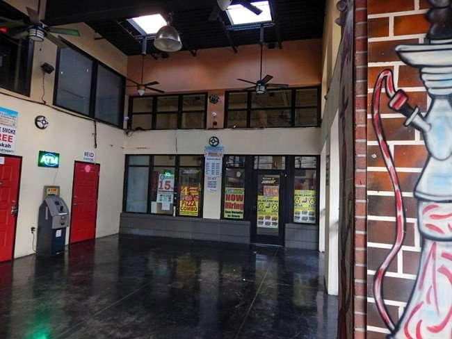 NOV 8, 2015 - Subway and Habibi Hookah Bar share same open-air space on 7th Ave, Ybor City, Tampa, FL/photosnews247.com