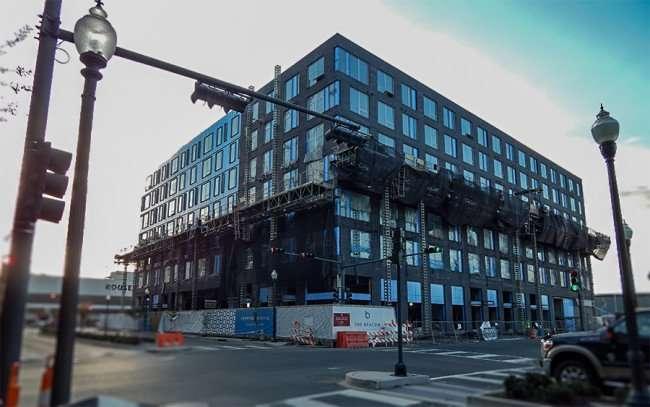 NOV 19, 2015 - The Beacon South Market loft apartments under construction on Girod Street, New Orleans, FL/photonews247.com